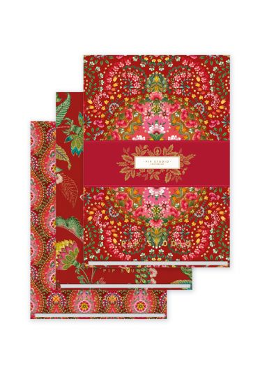 set-of-3-notebooks-a6-moon-delight-with-flower-print-red