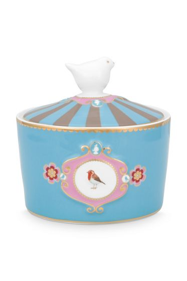 sugar-bowl-love-birds-in-blue-and-khaki-with-bird