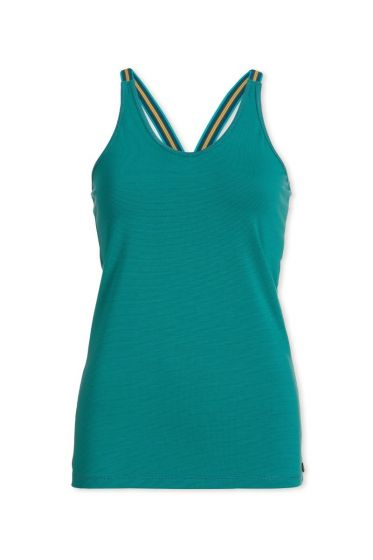 Top sleeveless Stripers Green