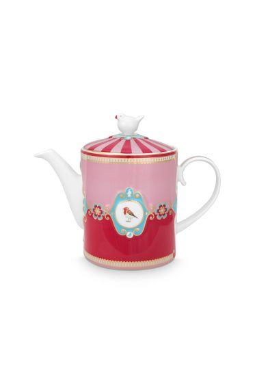 Love Birds Teapot Medium Red/Pink