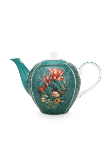 teapot-large-winter-wonderland-made-of-porcelain-with-a-squirrel-a-bird-and-flowers-in-green