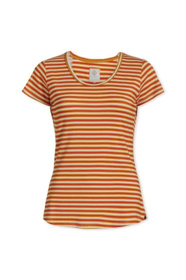 Top short sleeve Sleepy Stripers Coral