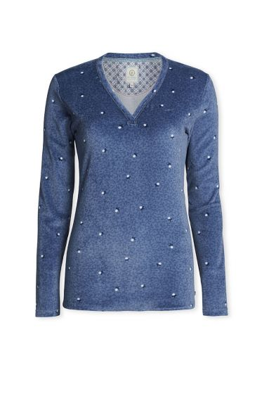 Top Long sleeve Freckle Blue