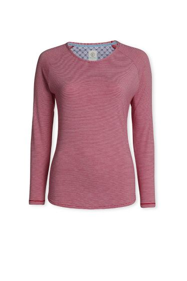 Top Long sleeve Stripers Cerise