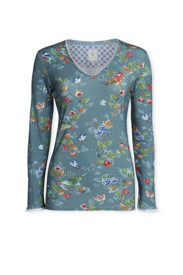 Top Long sleeve Birdy Green