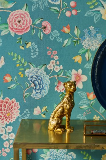 wallpaper-non-woven-vinyl-flowers-petrol-pip-studio-good-evening