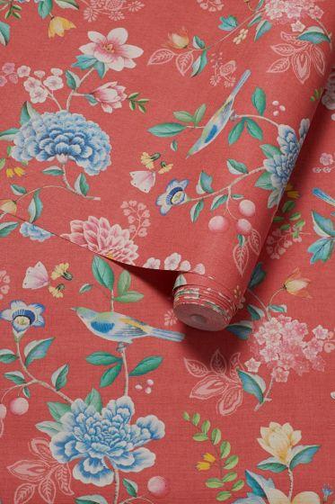 behang-vliesbehang-bloemen-rood-pip-studio-good-evening