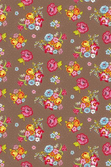 Bunch of Flowers wallpaper khaki - Khaki