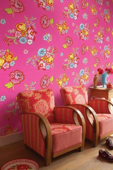 Pip Studio Bunch of Flowers Wallpower Roze