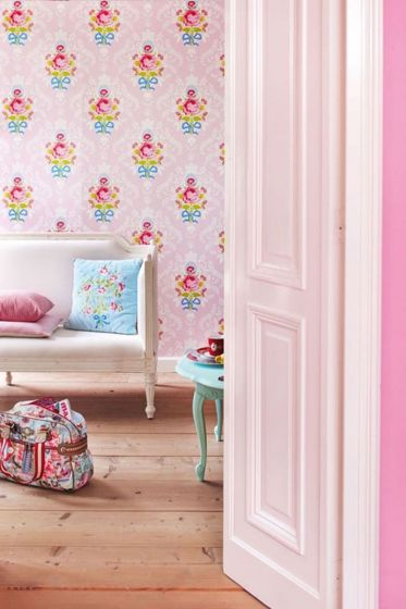 behang-vliesbehang-bloemen-roze-pip-studio-shabby-chic