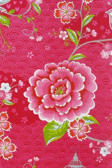 behang-vliesbehang-bloemen-rood-pip-studio-birds-in-paradise