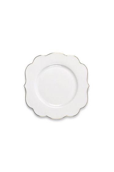 Royal White cake plate 17 cm
