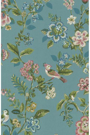 tapete-vliestapete-blumen-vogel-meerse-blau-pip-studio-botanical-print