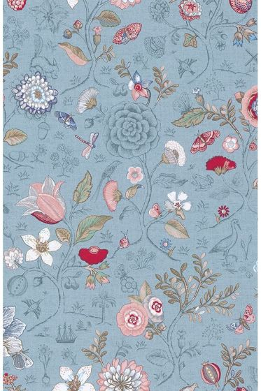 Pip Studio Spring to Life Wallpaper Light Blue