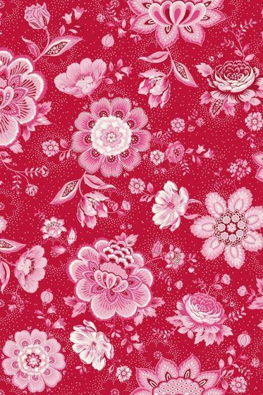 wallpaper-non-woven-vinyl-flowers-red-pip-studio-folklore-chintz