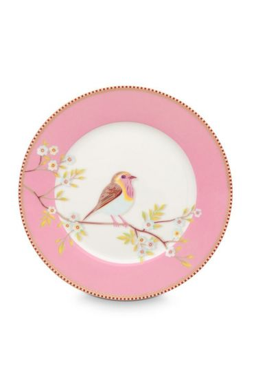 Floral Breakfast Plate Early Bird Pink 21 cm