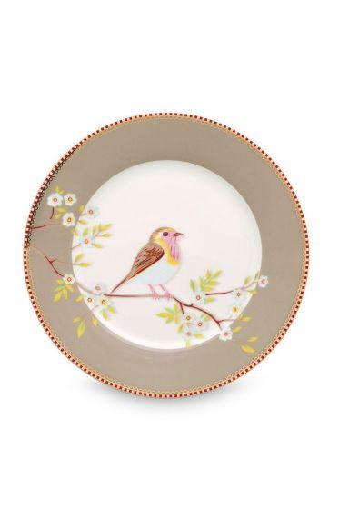 Floral ontbijtbord Early Bird 21 cm Khaki