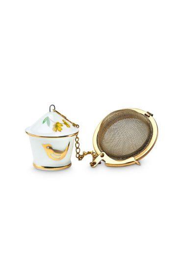 Floral Tee-Ei Vogelhäuschen