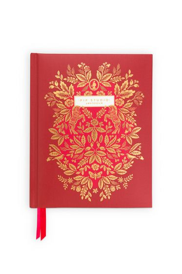 Address Book A6 Moon Delight Red