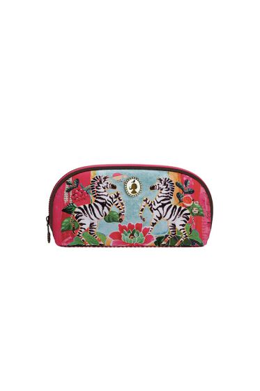 Telling Tales pink oval pencil case