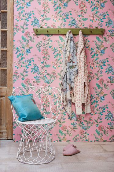 wallpaper-non-woven-vinyl-flowers-bird-soft-pink-pip-studio-botanical-print