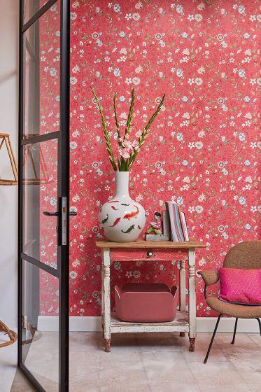 tapete-vliestapete-blumen-rot-rosa-pip-studio-spring-to-life