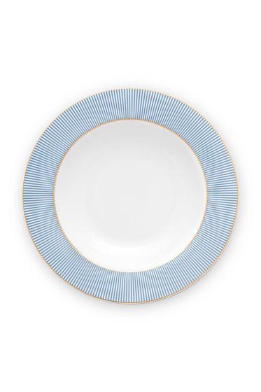 deep-plate-21,5-cm-blue-gold-details-la-majorelle-pip-studio