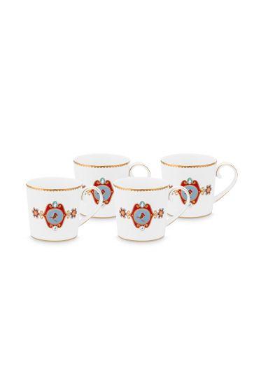 Mug-small-150-ml-set-4-mugs-white-gold-details-love-birds-pip-studio
