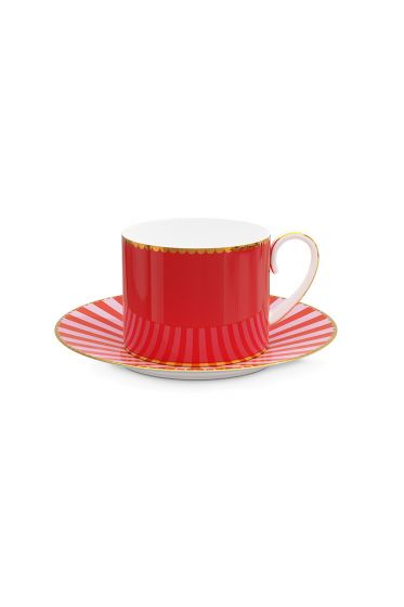 Love Birds Cup & Saucer Red