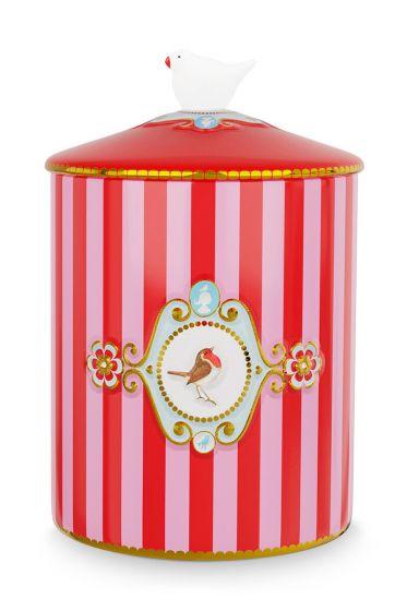 Love Birds Storage Jar Red/Pink