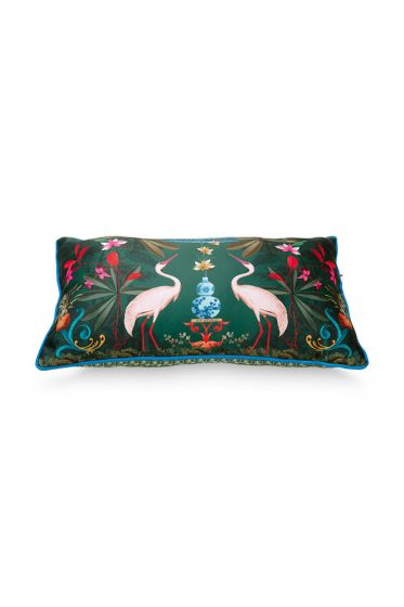 Cushion-botanical-green-rectangle-heron-homage-50x30-cm