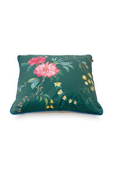 Kussen-bloemen-groen-vierkant-fleur-grandeur-60x60-cm