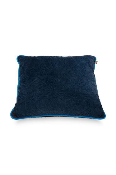 Cushion-quilted-dark-blue-square-50x50-cm
