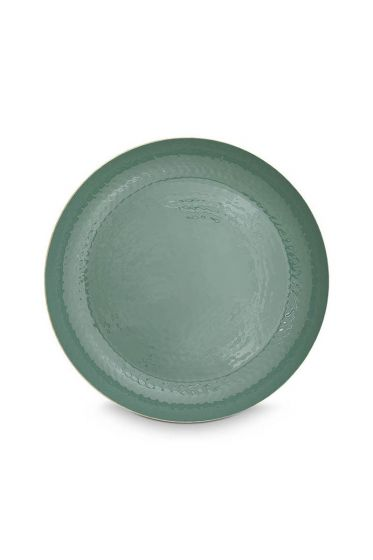 metal-Tablett-enamelled-grün-Gold-blushing-birds-pip-studio-50-cm