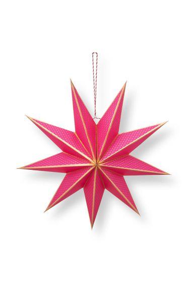 Christmas-star-paper-pink-pip-studio-60-cm