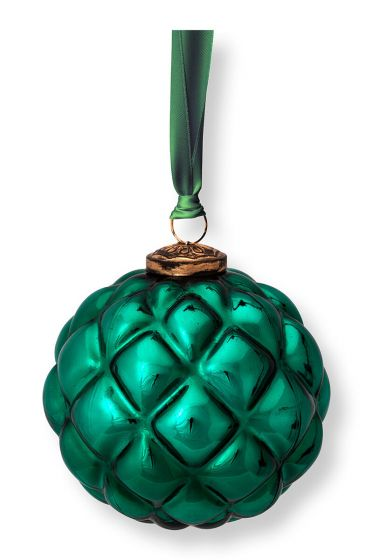 Christmas-ornament-glass-dark-green-pip-studio-12,5-cm