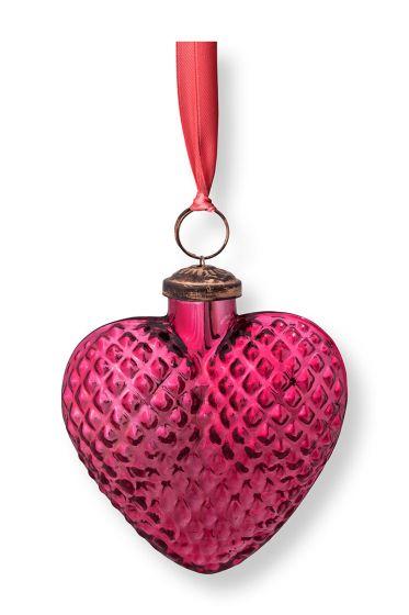 Kerst-ornament-glas-hart-roze-pip-studio-10-cm