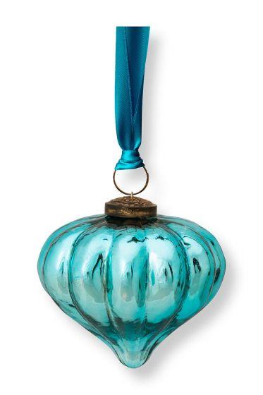 Ornament Glass Light Blue 10cm