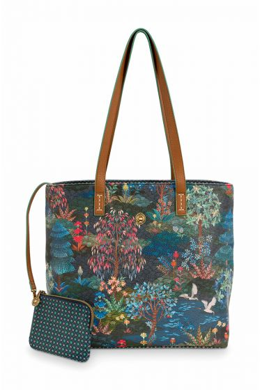 Shopper-medium-donker-blauw-pip-garden-pip-studio-32/47x31x18,5-cm