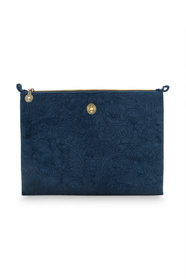 Make-up-tas-groot-donker-blauw-quilted-pip-studio-30x22x1-cm