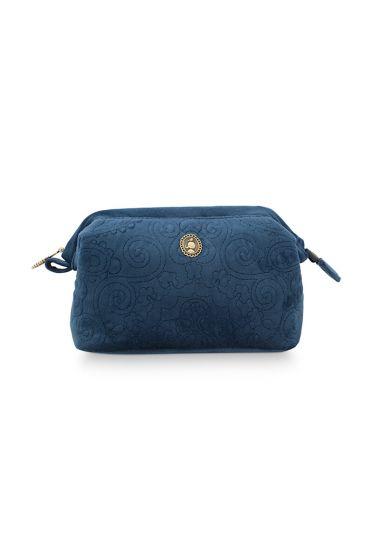 Kosmetic-tasche-klein-dunkel-blau-quilted-pip-studio-19x12x8,5-cm