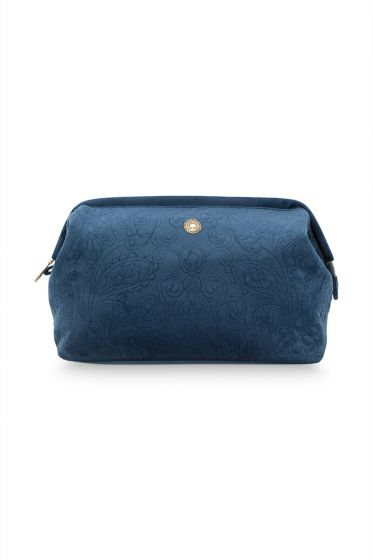 Make-up-tas-groot-donker-blauw-quilted-pip-studio-26x18x12-cm