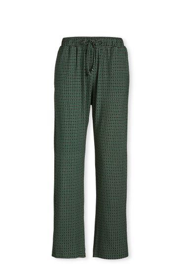 Trousers Long Folk Stitch Green