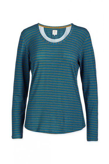 Top Long Sleeve Fushion Stripe Blue