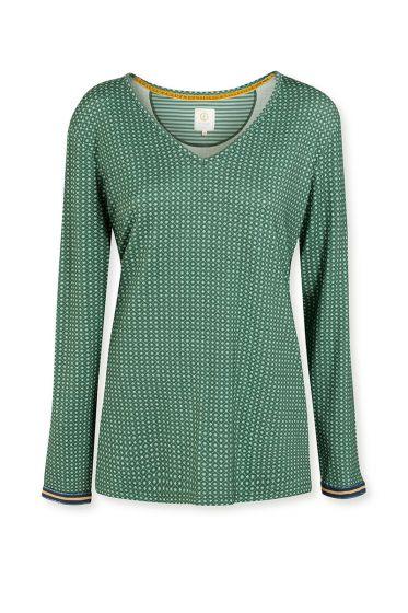 Top-long-sleeve-baroque-print-green-star-tile-pip-studio-xs-s-m-l-xl-xxl