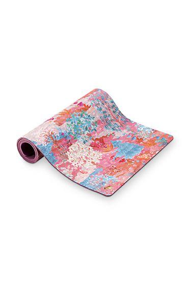 Yoga-mat-botanische-print-roze-pip-garden-pip-studio-66x183-cm