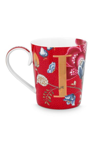 Letter-mug-red-blushing-birds-I-pip-studio