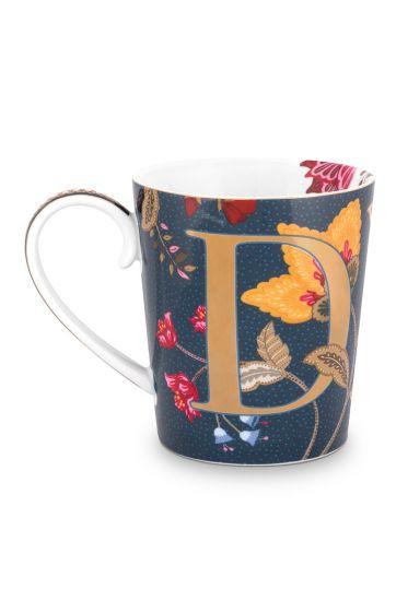 Letter-mug-blue-floral-fantasy-D-pip-studio