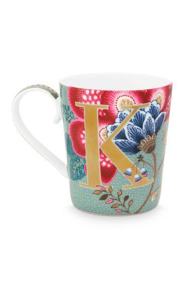 Letter-mug-light-blue-floral-fantasy-K-pip-studio