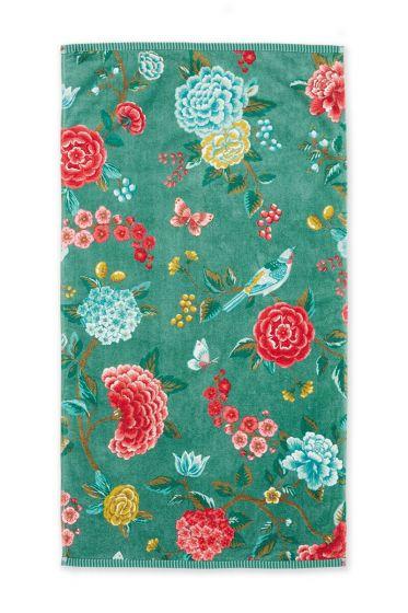Bath-towel-floral-green-55x100-good-evening-pip-studio-cotton-terry-velour